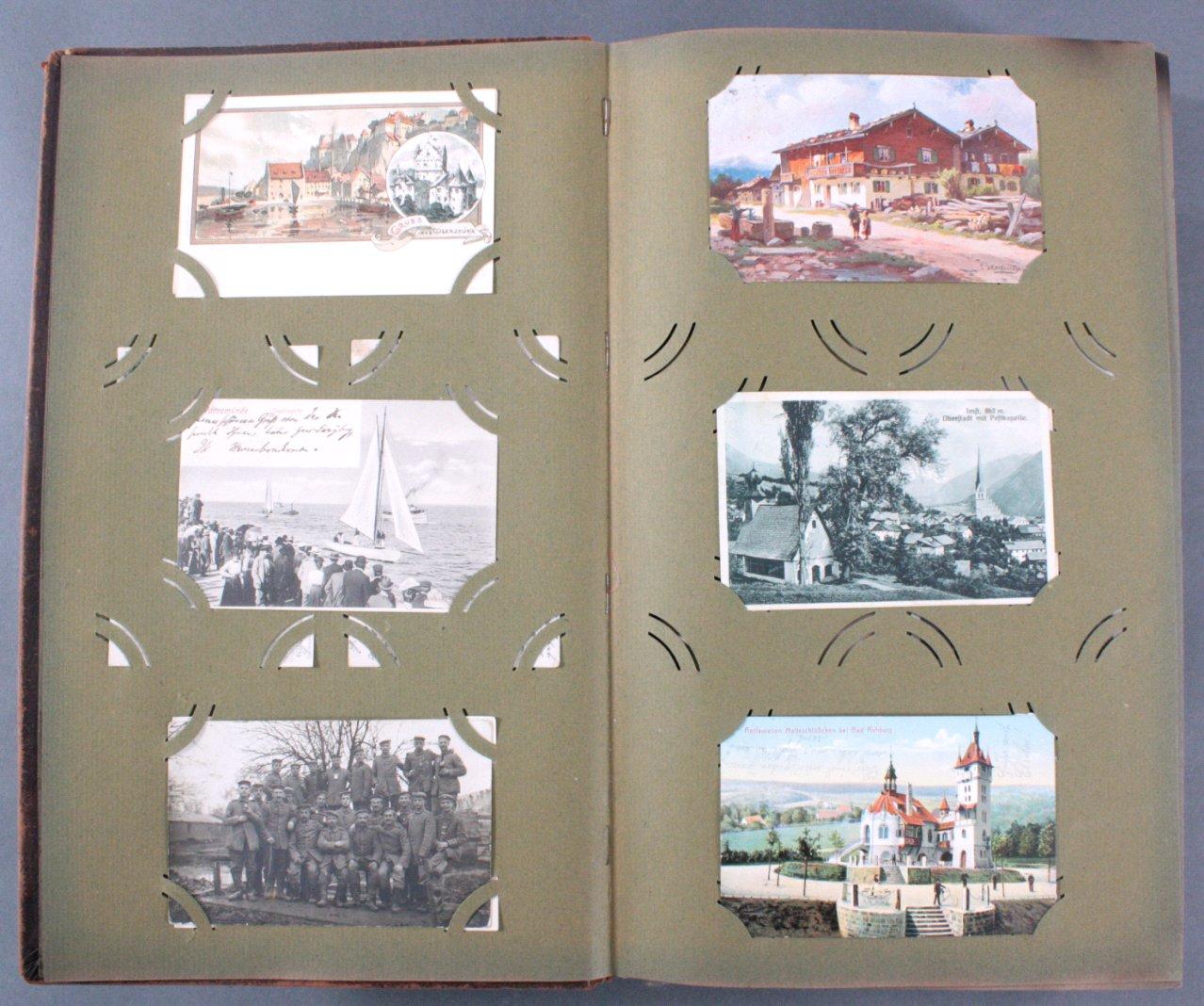 Komplett gefülltes Album mit 346 Ansichtskarten-1