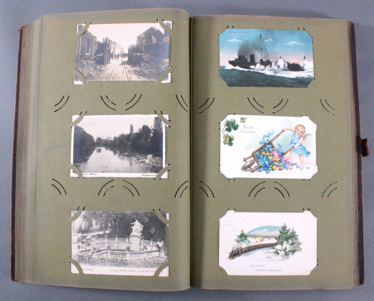 Komplett gefülltes Album mit 346 Ansichtskarten-12