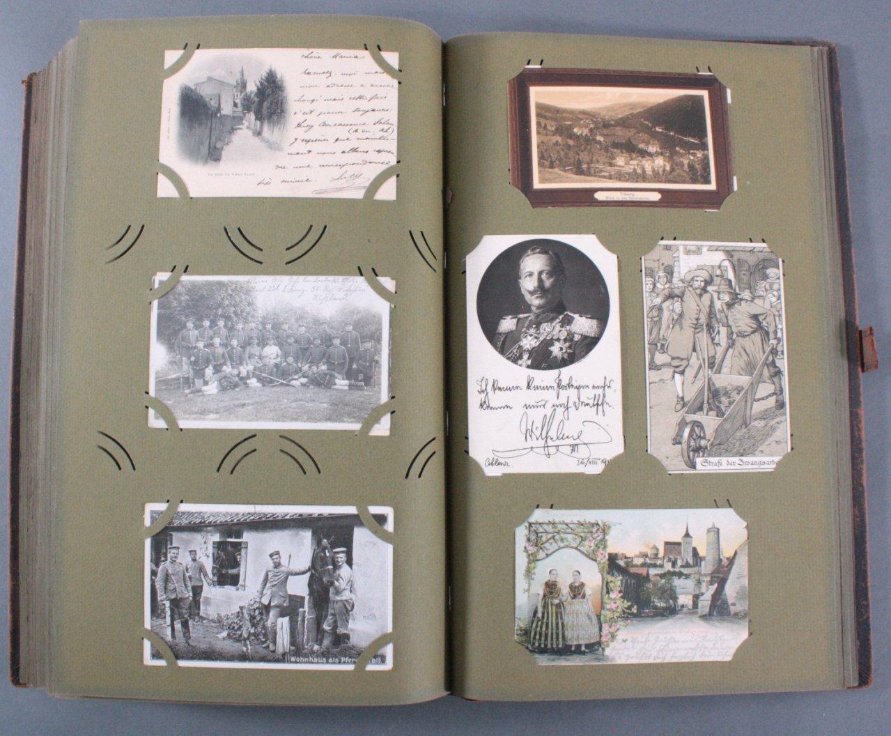 Komplett gefülltes Album mit 346 Ansichtskarten-16
