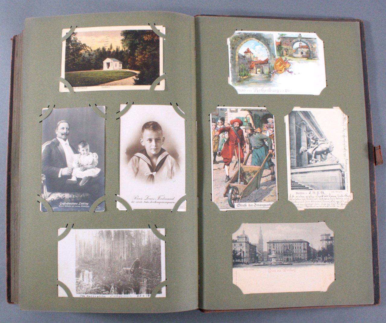 Komplett gefülltes Album mit 346 Ansichtskarten-18