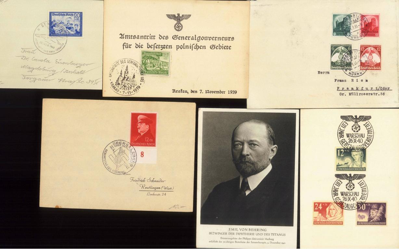 III. REICH 1935-1942 BELEGELOT, Generalgouvernement (GG)
