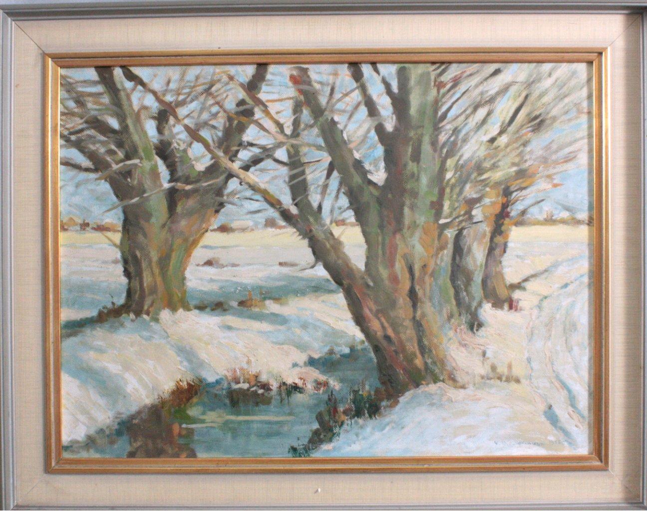 F. Biedermann, Winterlandschaft