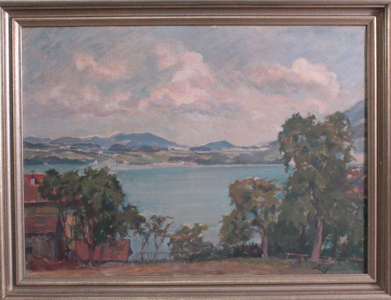 Mediterane Seenlandschaft