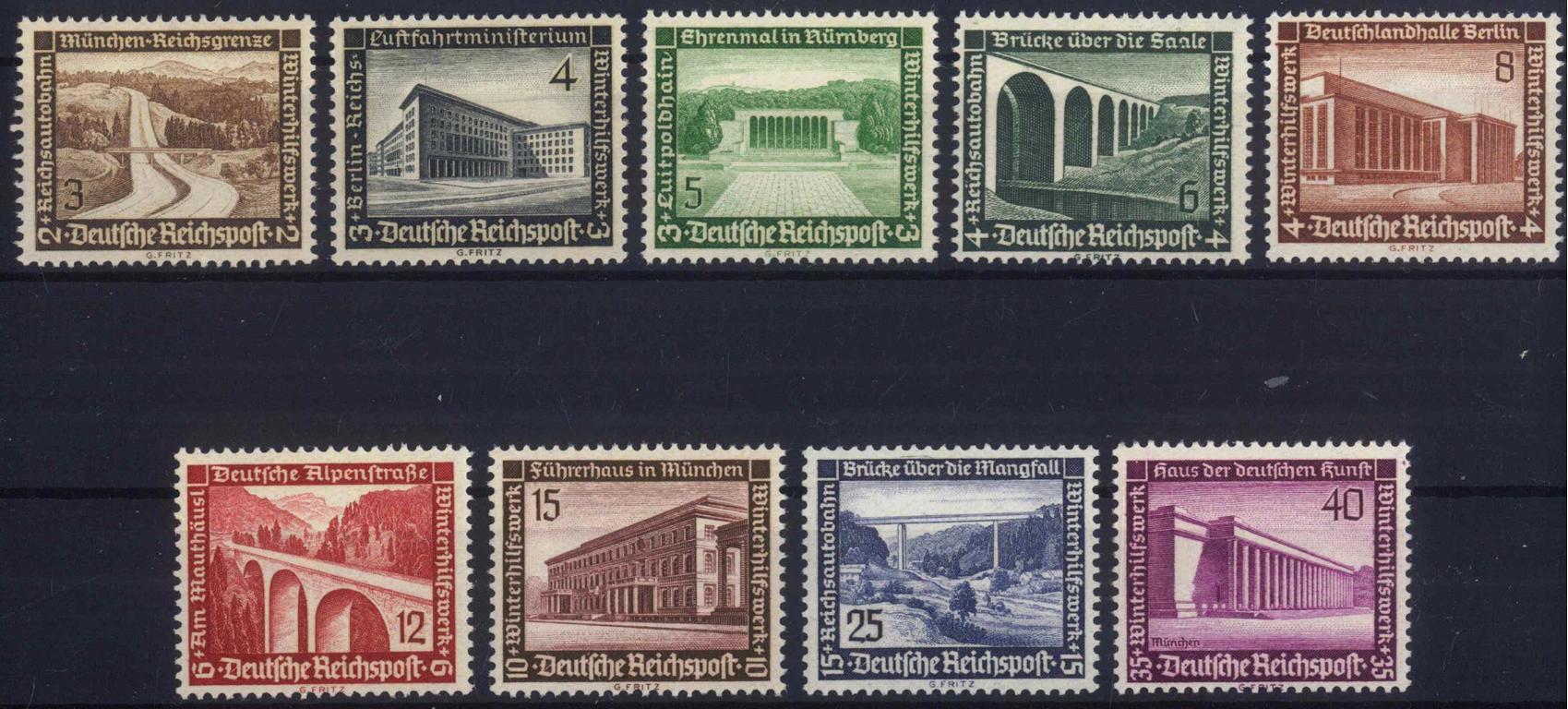III. Reich 1936, Winterhilfswerk – Moderne Bauten