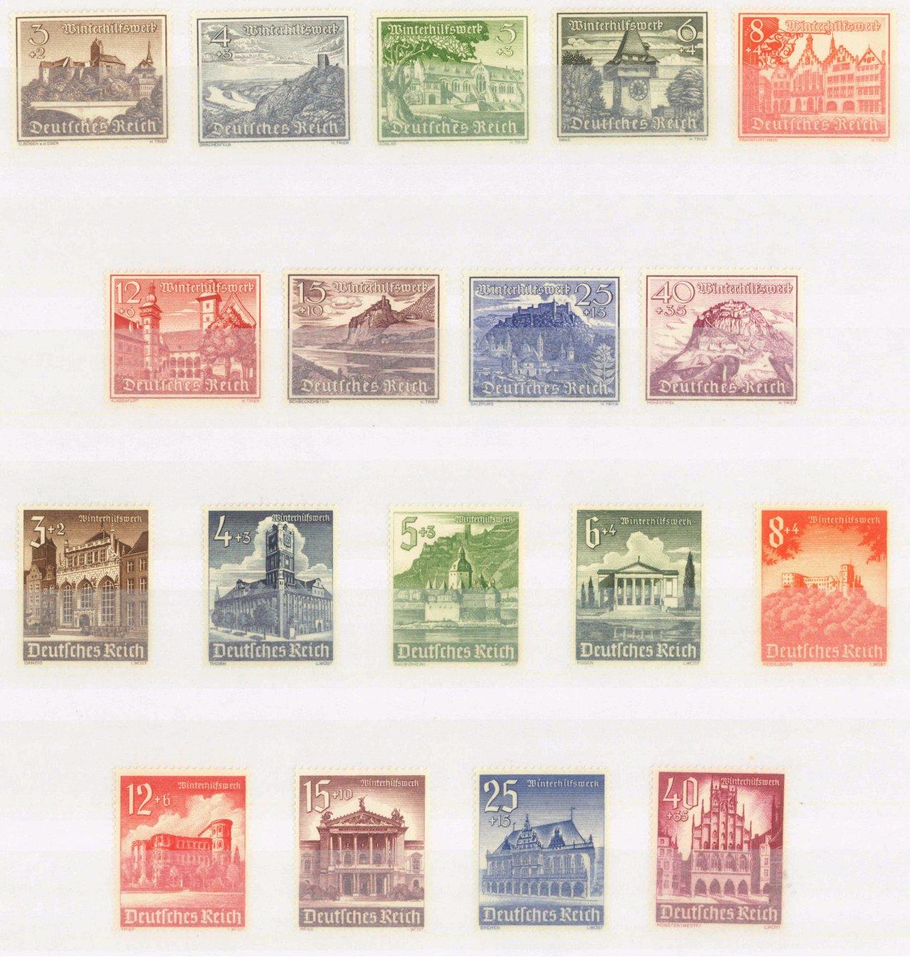 III. Reich 1939/1940,Winterhilfswerk-Bauwerke, KW 100 EURO