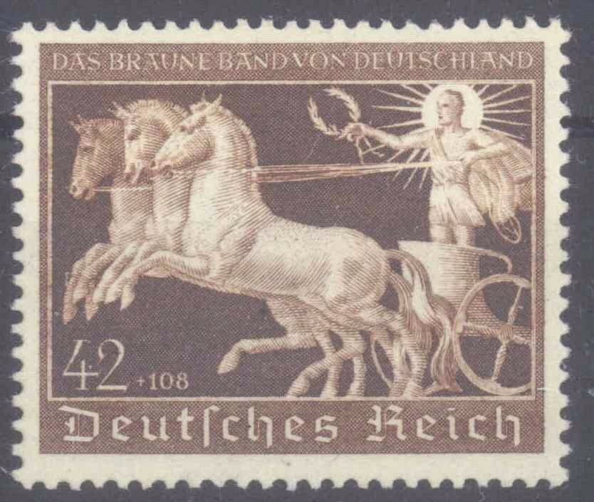 III. Reich 1940, Braunes Band, Katalogwert 120,- EURO