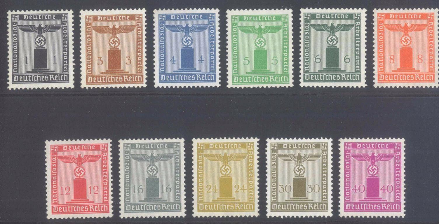III. REICH 1934/1944 Dienstmarken, Adler mit Wasserzeichen