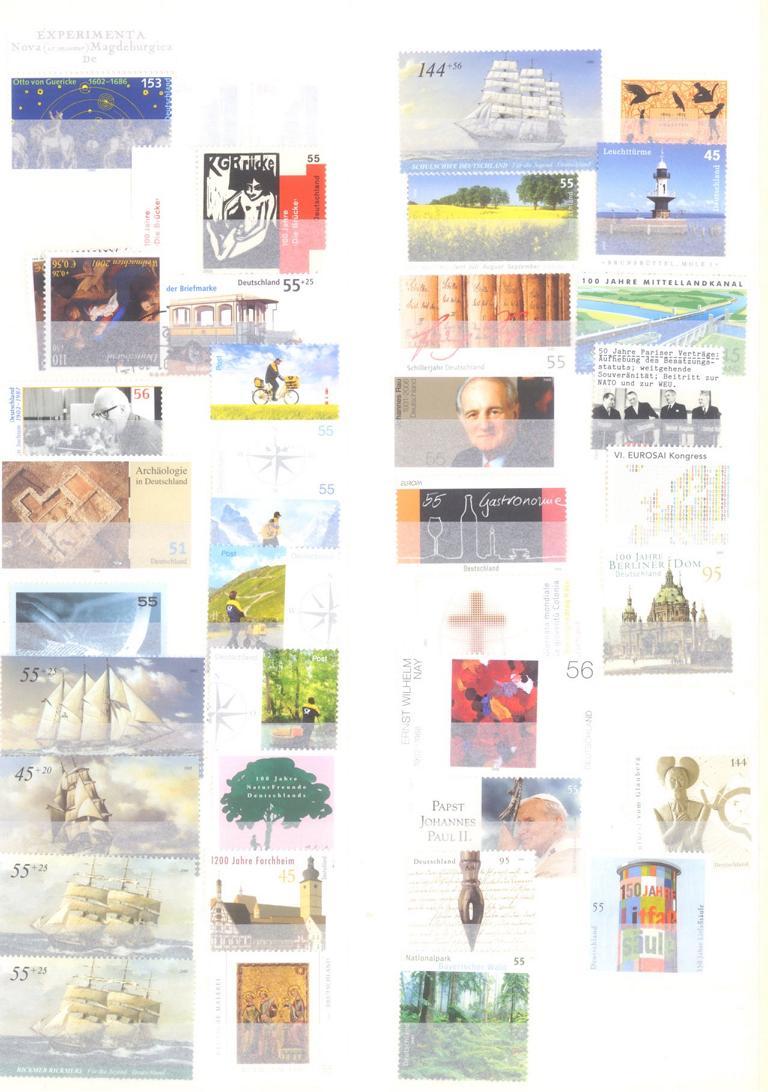 BUND 2001-2008 postfrische NOMINALE mit 365,- EURO