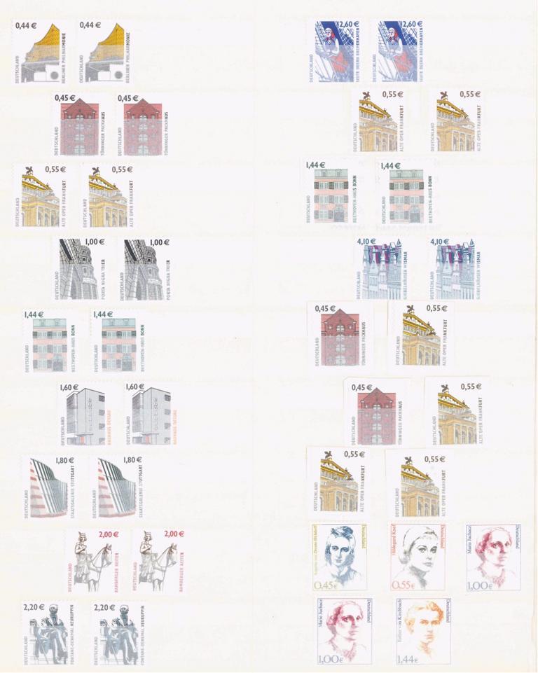 BUND 2001-2008 postfrische NOMINALE mit 365,- EURO-1