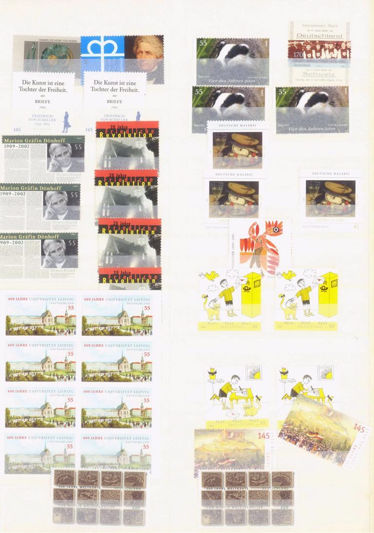 BUND 2001-2008 postfrische NOMINALE mit 365,- EURO-2
