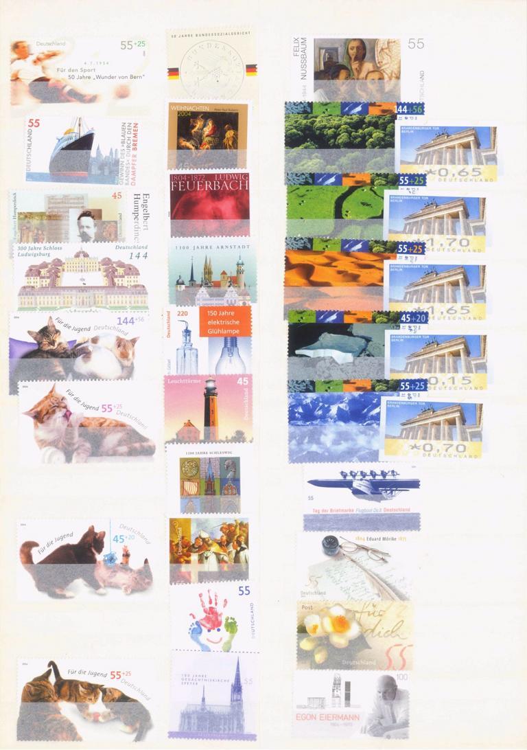 BUND 2001-2008 postfrische NOMINALE mit 365,- EURO-3
