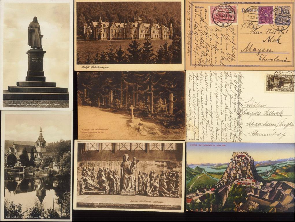 DEUTSCHES REICH, Belege und Ansichtskarten (auch Jugenheim)