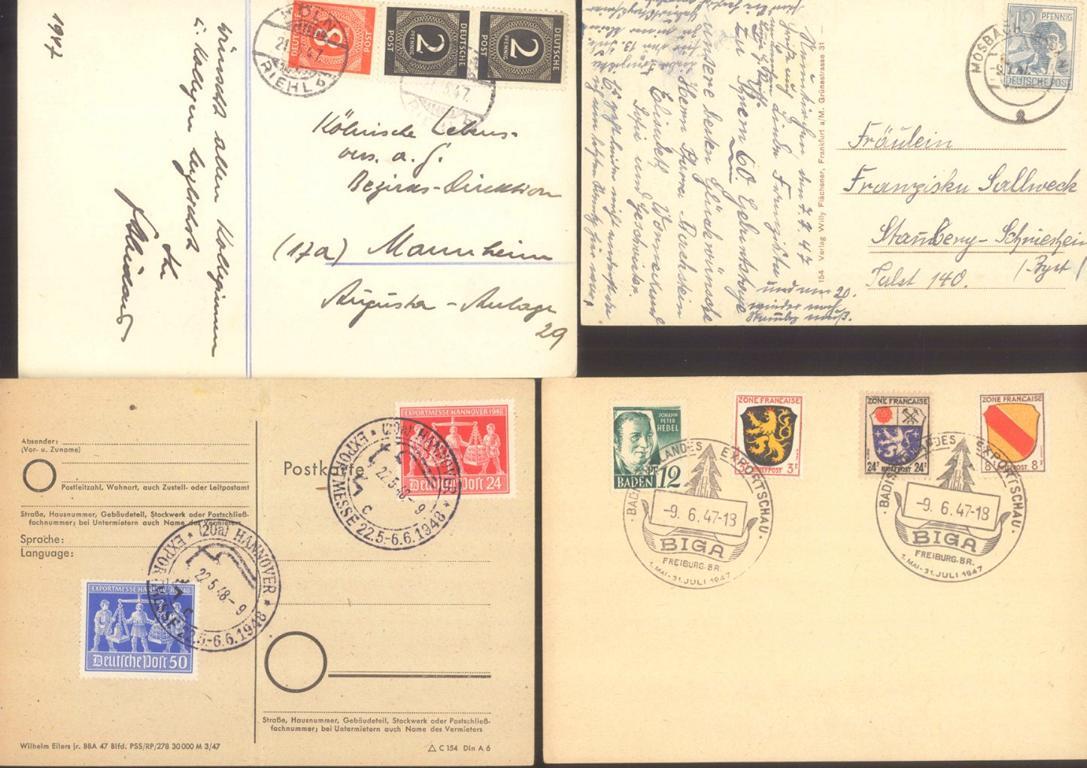 DEUTSCHES REICH, Belege und Ansichtskarten (auch Jugenheim)-3