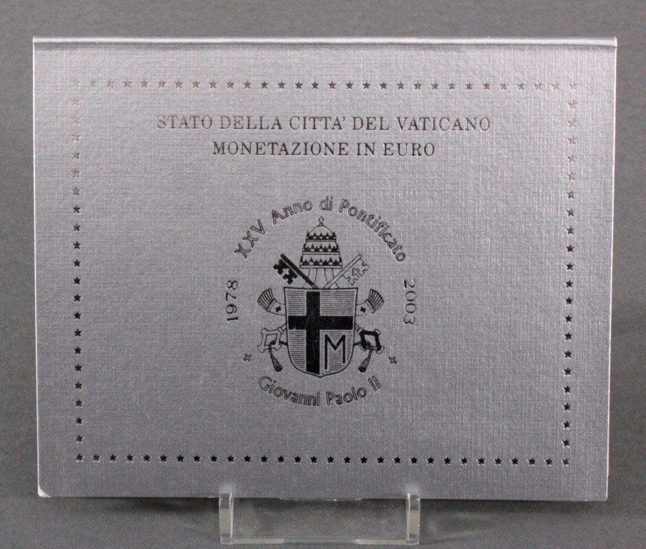 Kursmünzensatz Vatikan 2003