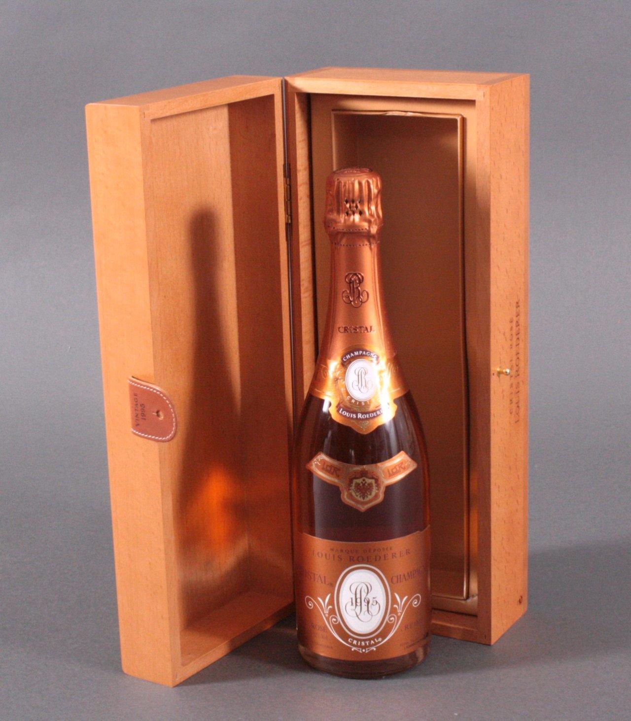 LOUIS ROEDERER CRISTAL Brut Rose Champagner 1995