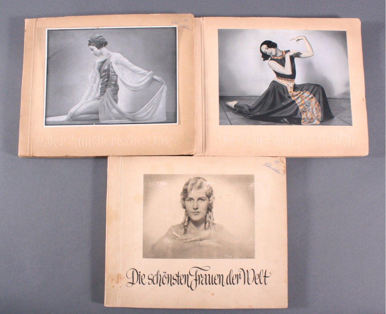 3 Sammelbilderalben, Thema Tanzen / Frauen