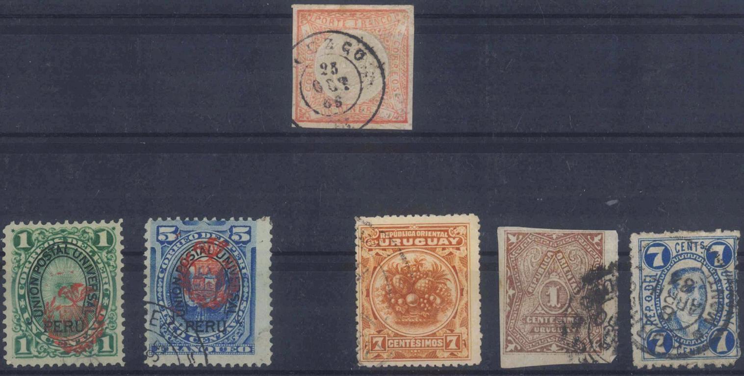 PERU und URUGUAY, klassische Marken ab 1862