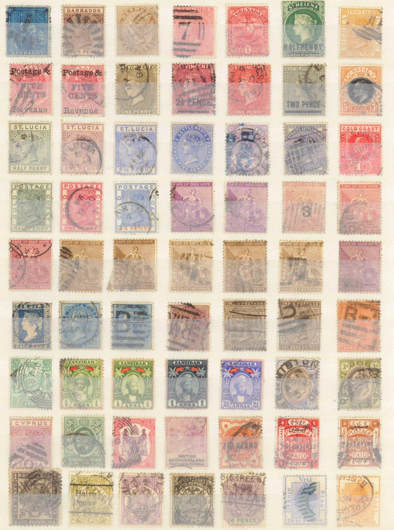 BRITISCHE KOLONIEN, klassische Marken ab 1860
