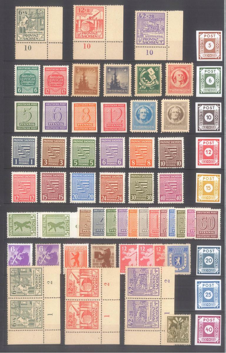 SOWJETISCHE BESATZUNGSZONE 1945-1946, postfrische Partie
