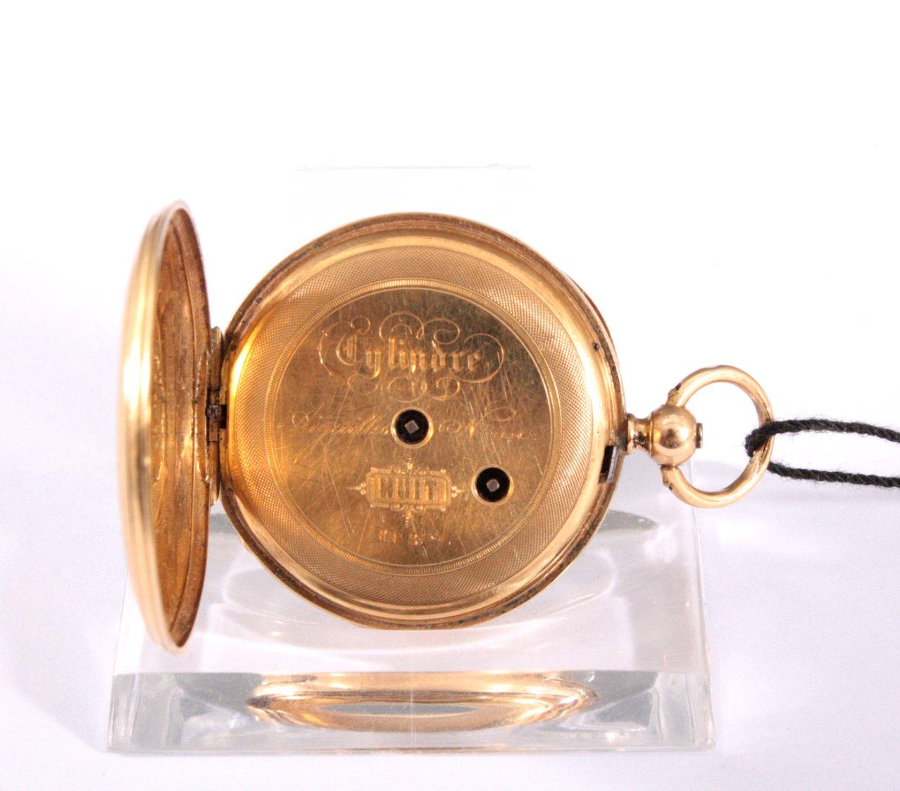 Goldene Damentaschenuhr, 19. Jh.-2