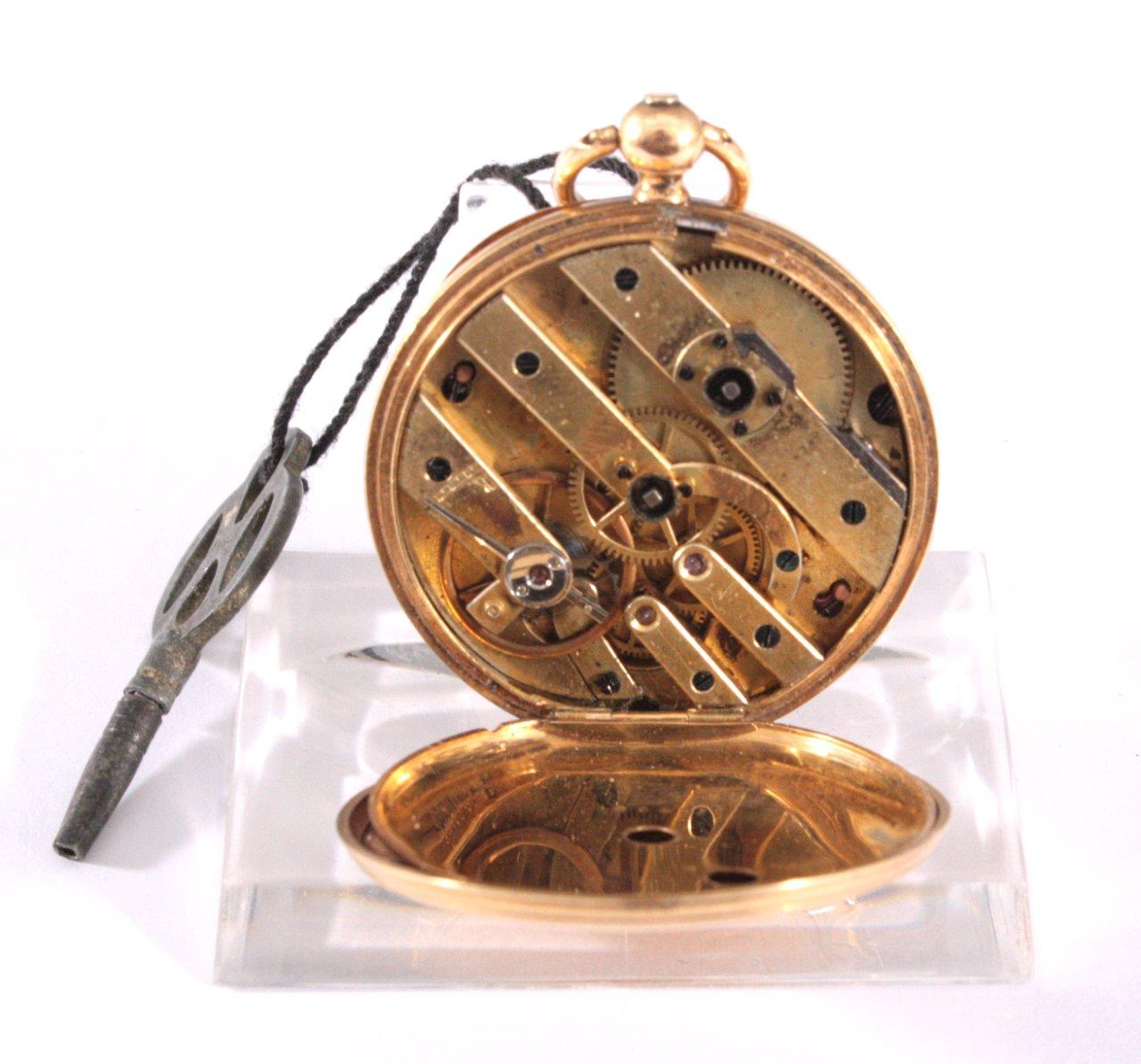 Goldene Damentaschenuhr, 19. Jh.-3