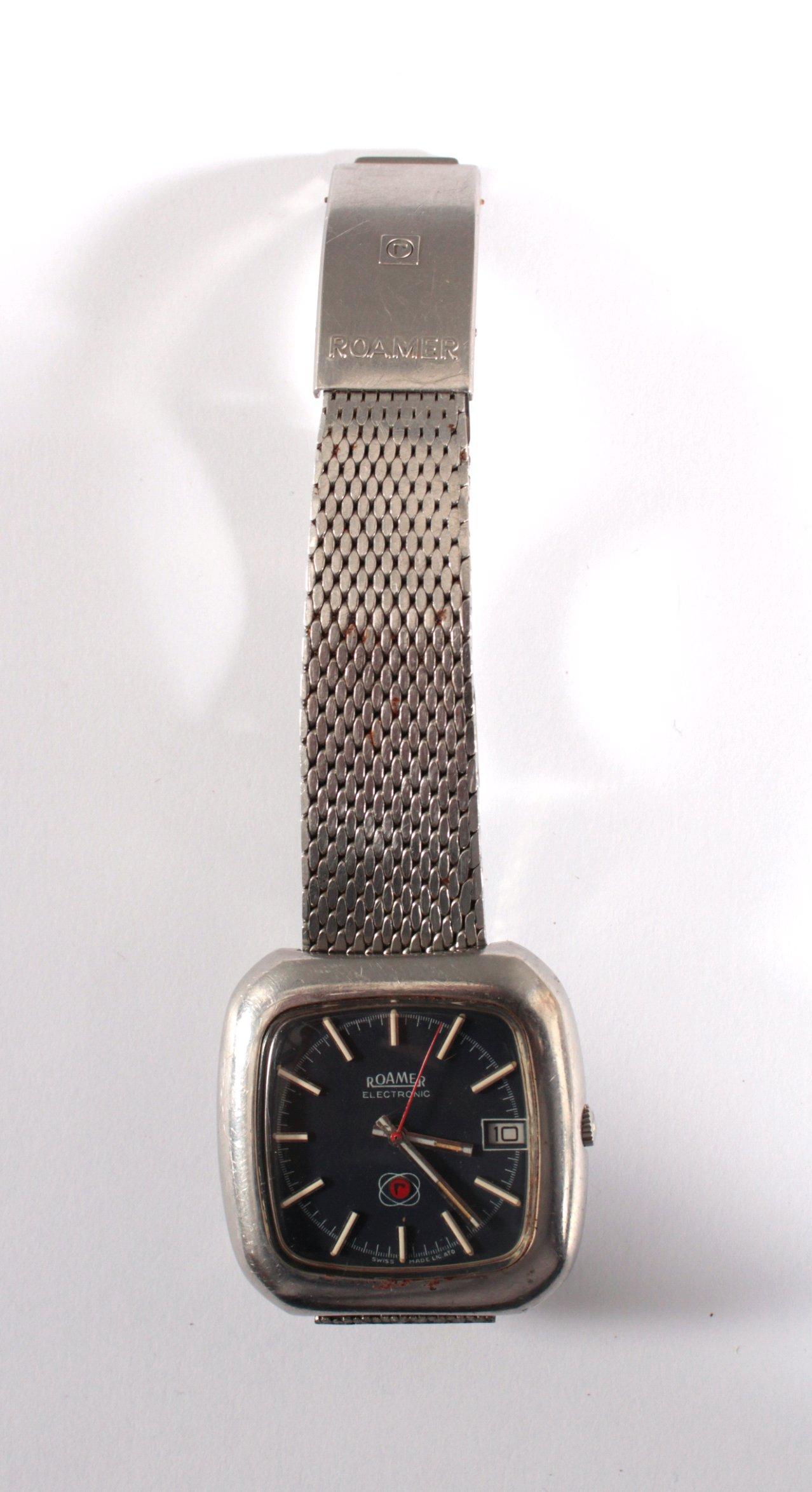 Herrenarmbanduhr der Marke Roamer aus den 80er Jahren-2