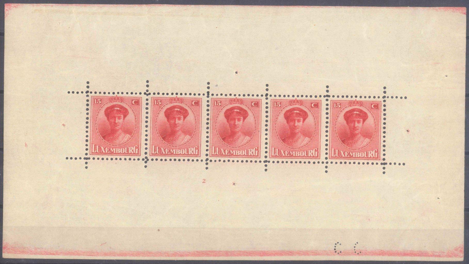 1921 LUXEMBURG, Großherzogin Charlotte -KLEINBOGEN!!