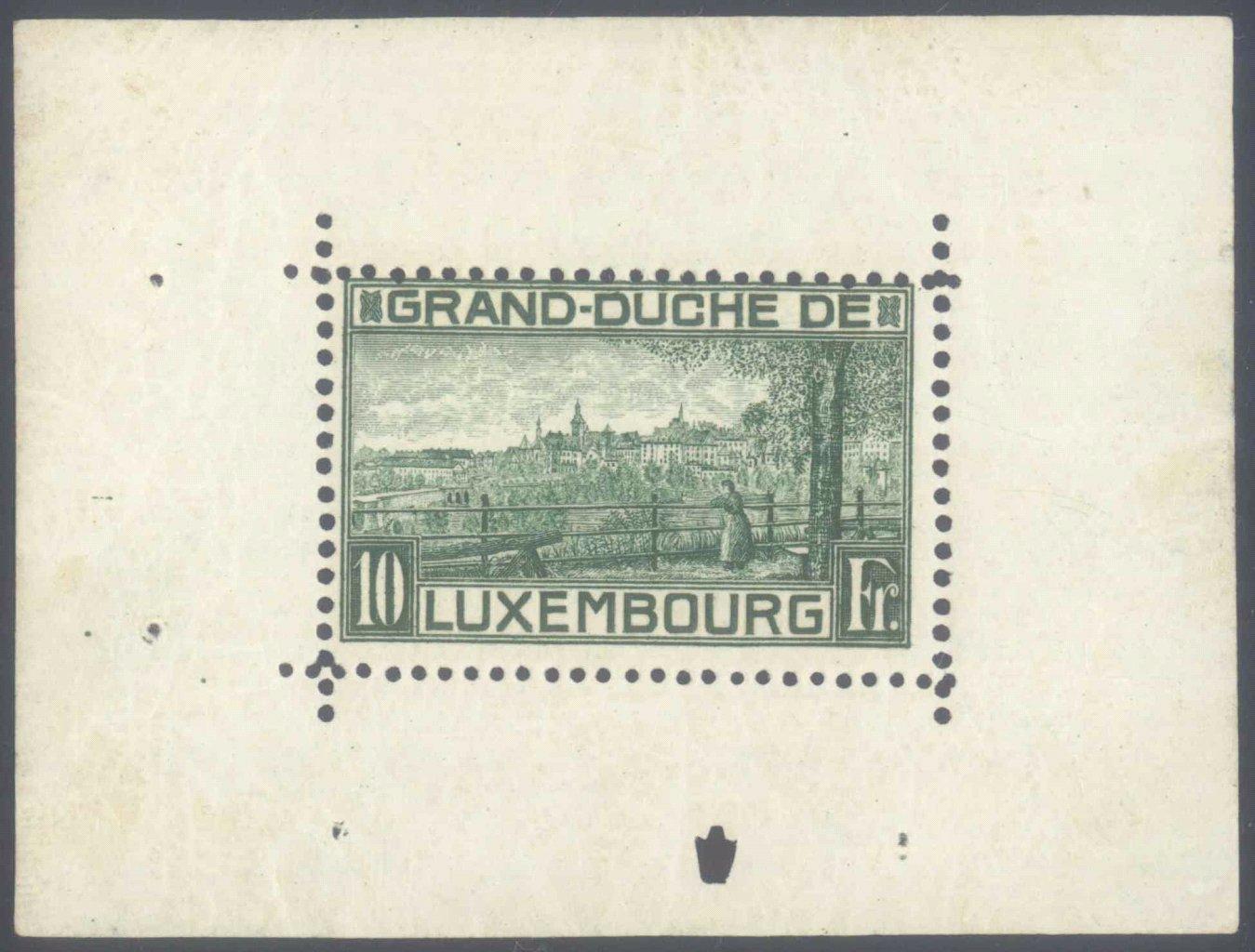 1923 LUXEMBURG, der BLOCK 1 !!