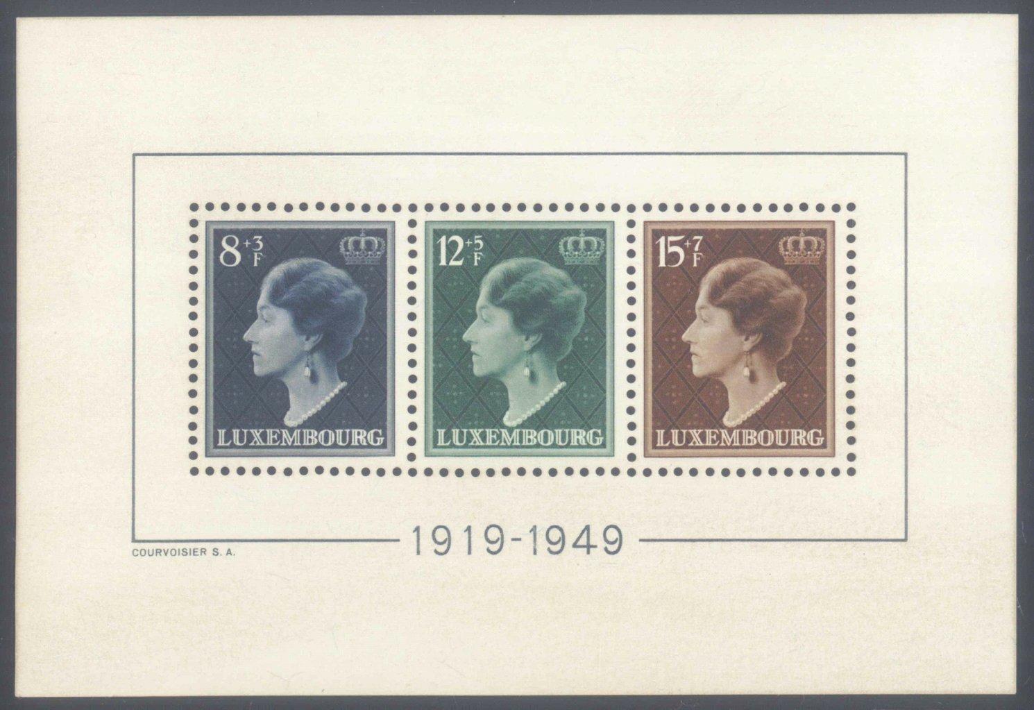 1949 LUXEMBURG, Regierungsjubiläums – Block