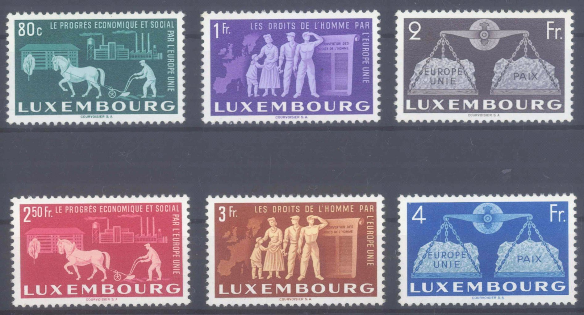 1951 LUXEMBURG, Montan – Union