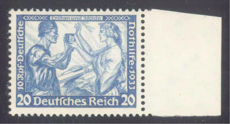 1933 III. REICH, Nothilfe, 20+10 Pfennig Wagner, Zähnung B