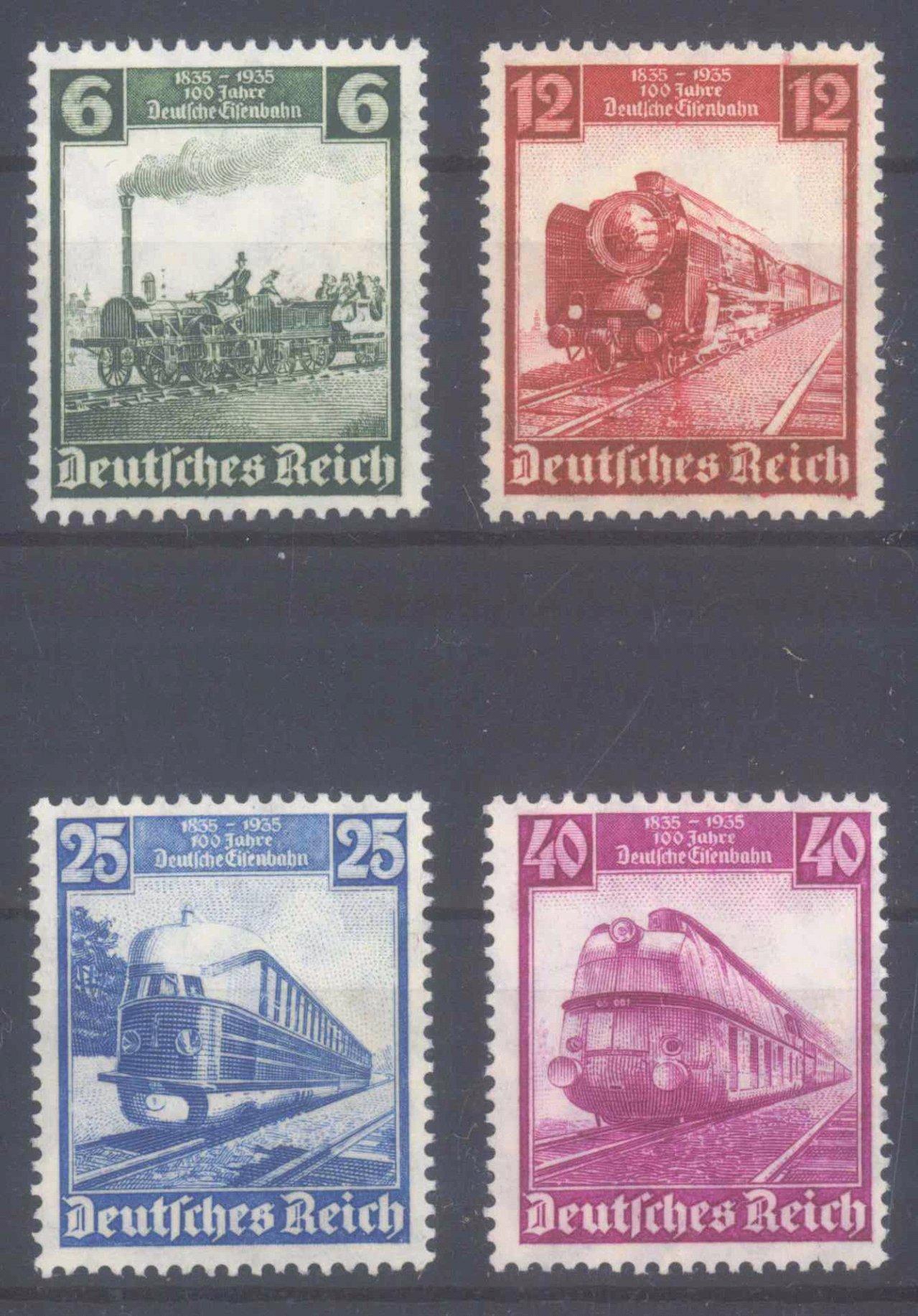 1935 III. REICH, 100 Jahre Deutsche Eisenbahn