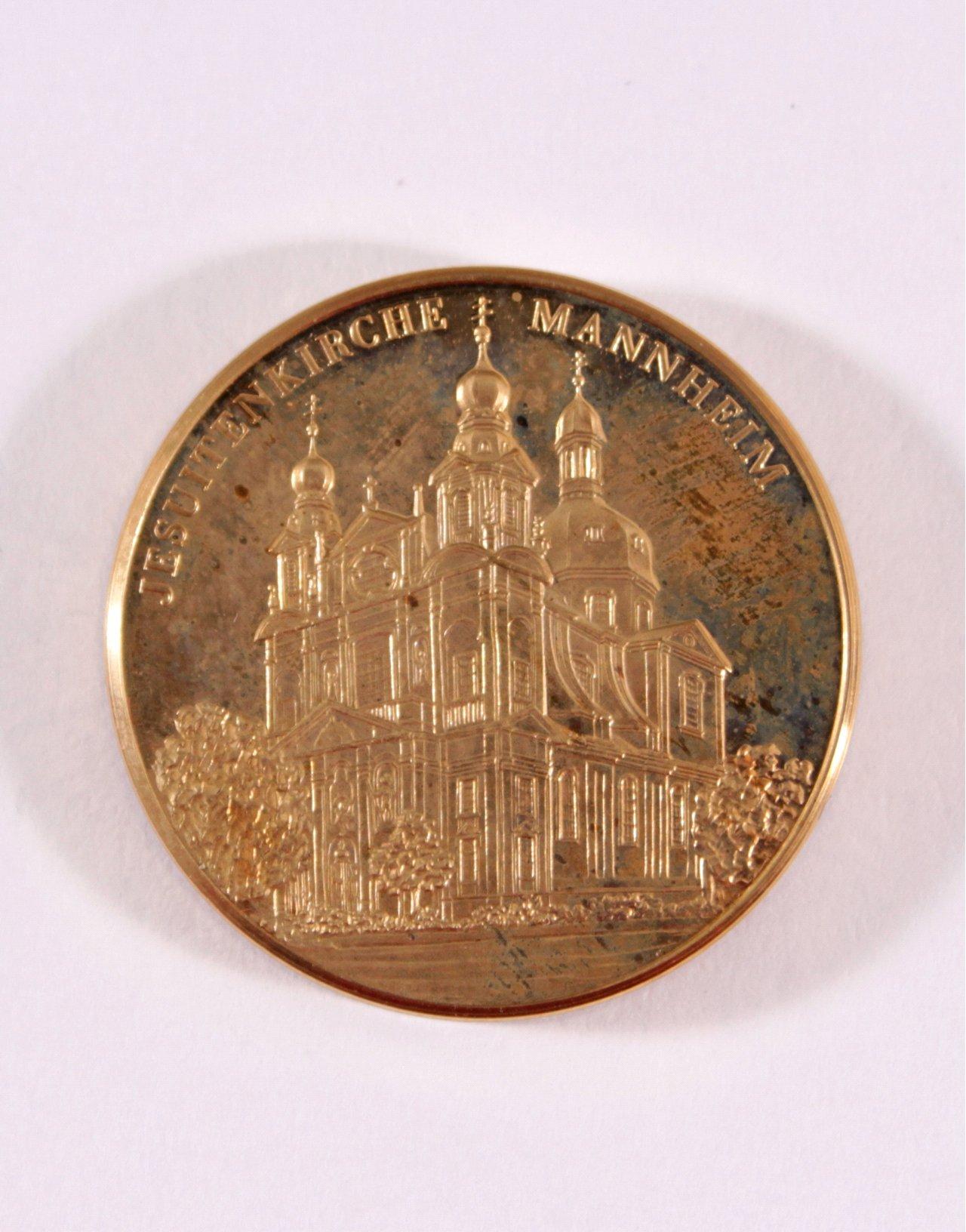 Goldmedaille Jesuitenkirche Mannheim