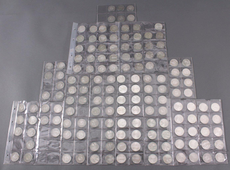Sammlung 5 DM Münzen (Silberadler)