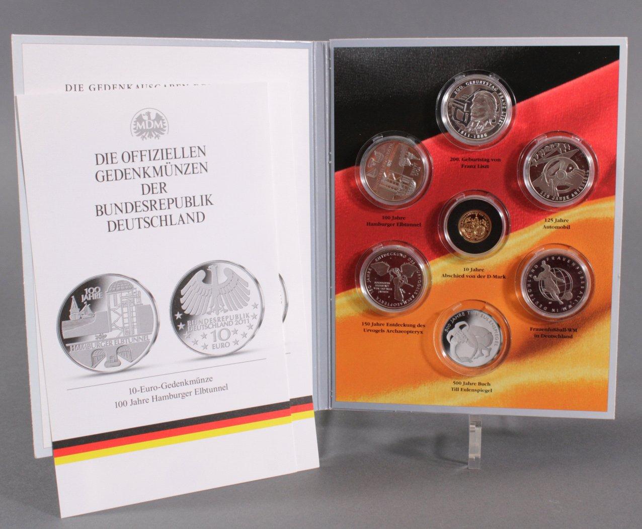 Die Gedenkausgaben des Jahres 2011, mit Goldmünze
