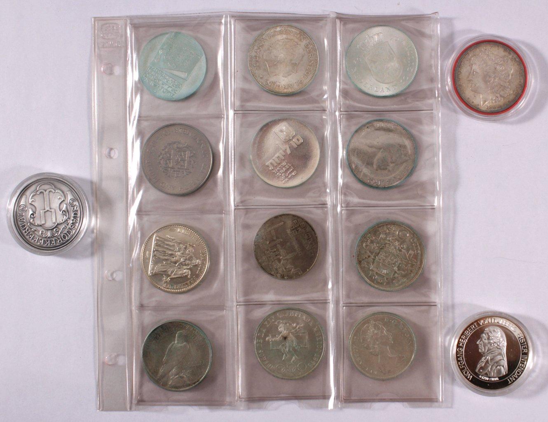 """Sammlung Silbermünzen und Medaillen """"Alle Welt"""""""