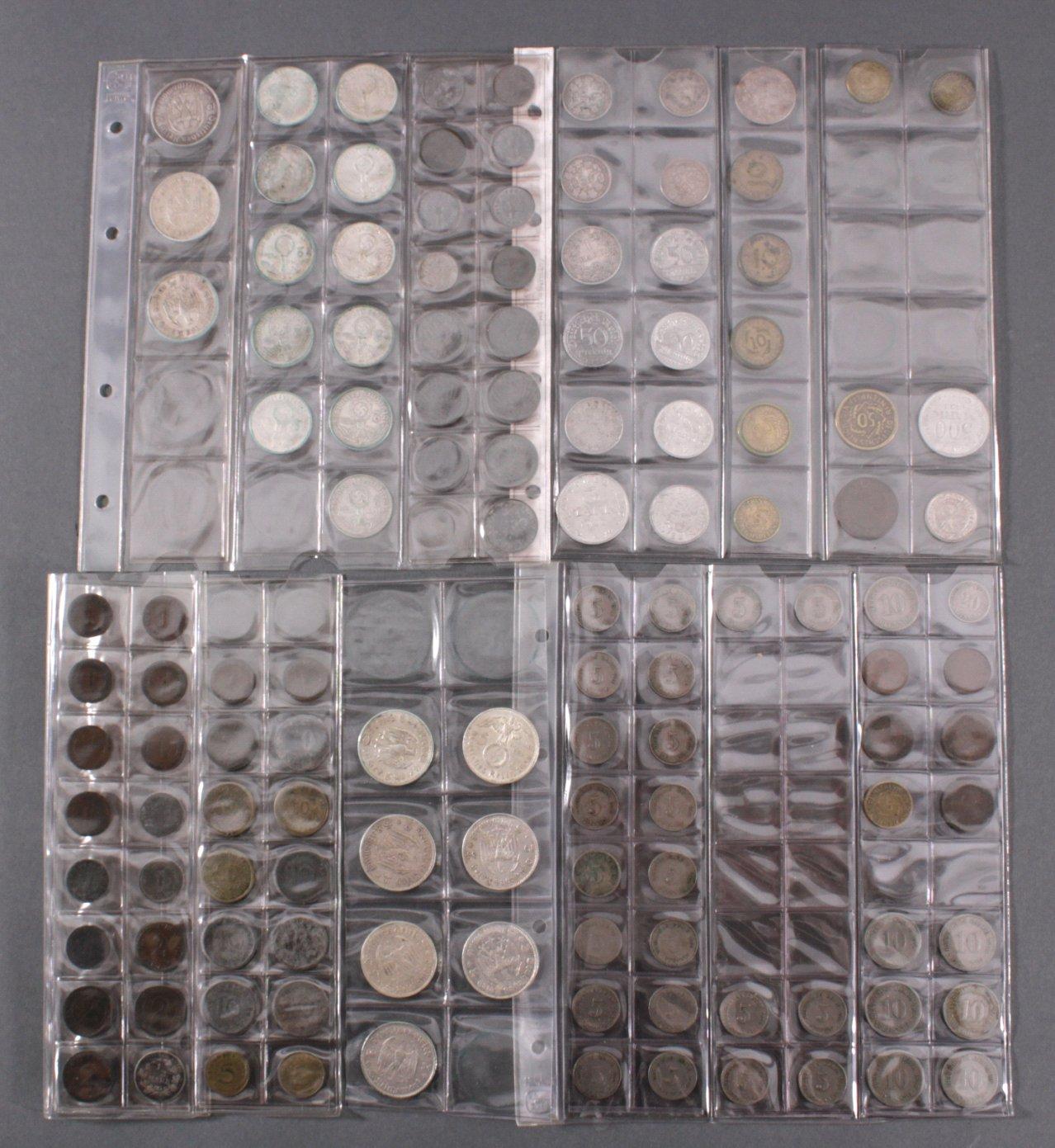 Kleine Sammlung Münzen, Deutsches Reich