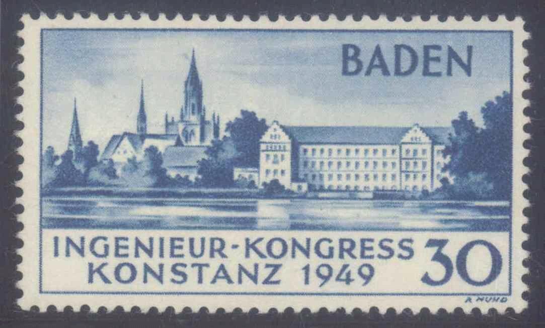 FRANZÖSISCHE ZONE BADEN 1949, KONSTANZ II