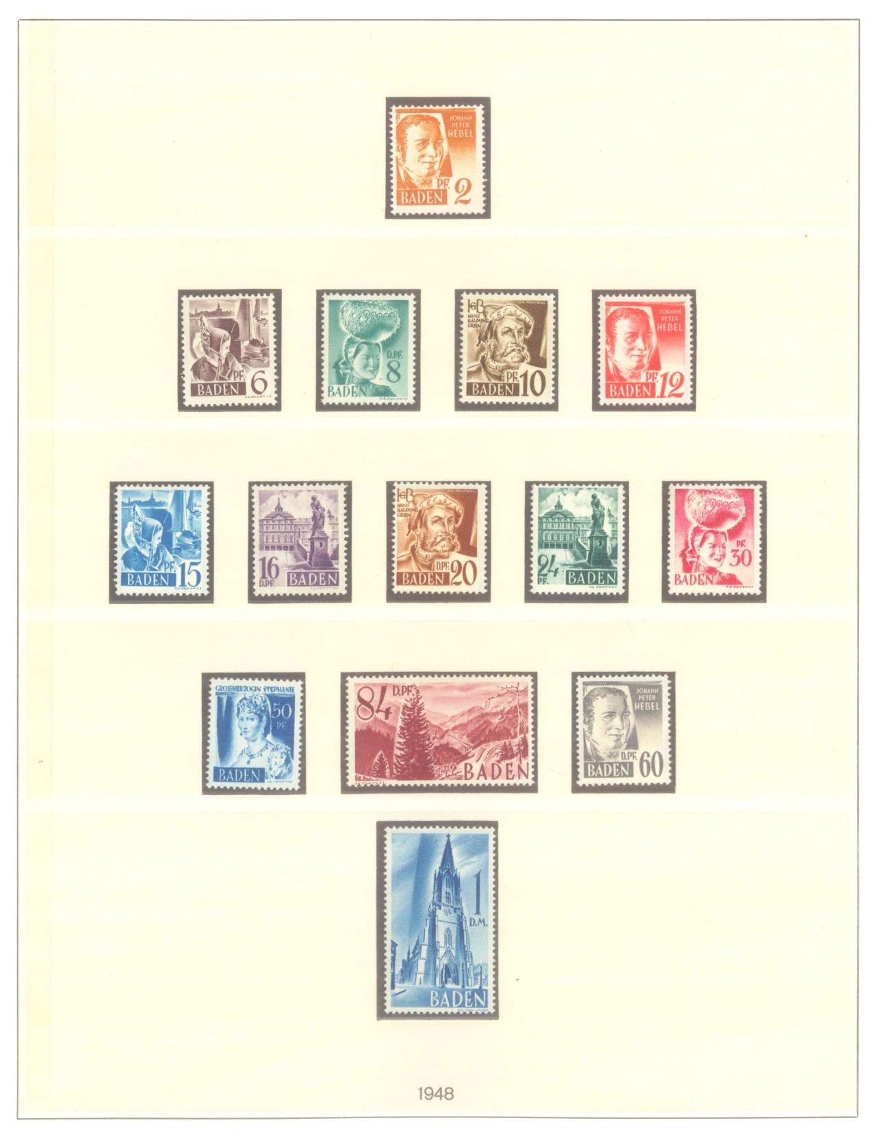 FRANZÖSISCHE ZONE BADEN 1947-1949