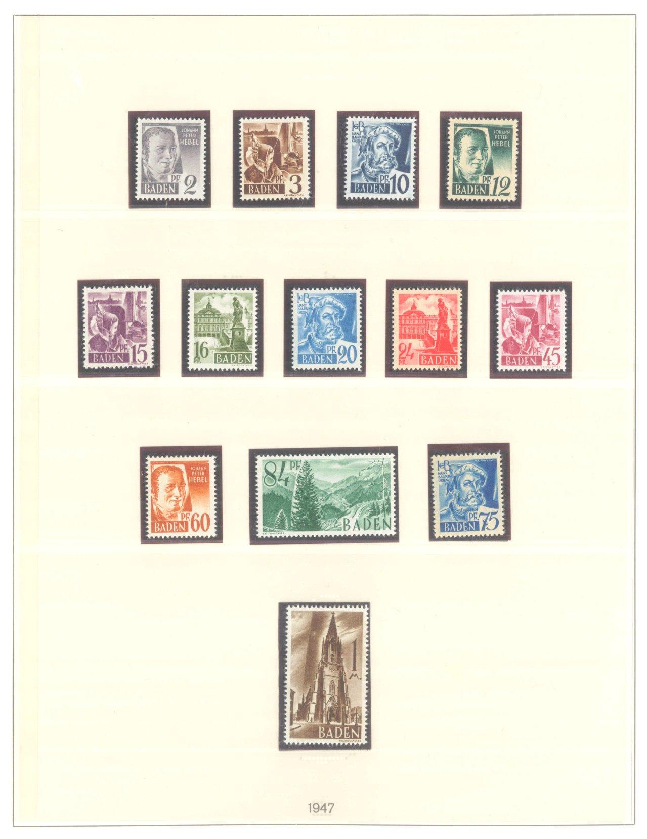 FRANZÖSISCHE ZONE BADEN 1947-1949-1