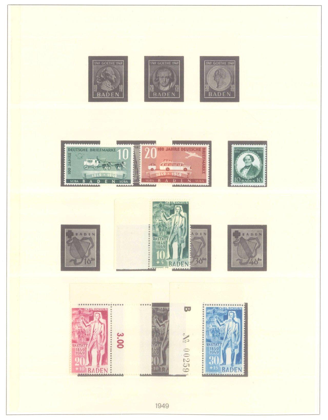 FRANZÖSISCHE ZONE BADEN 1947-1949-2