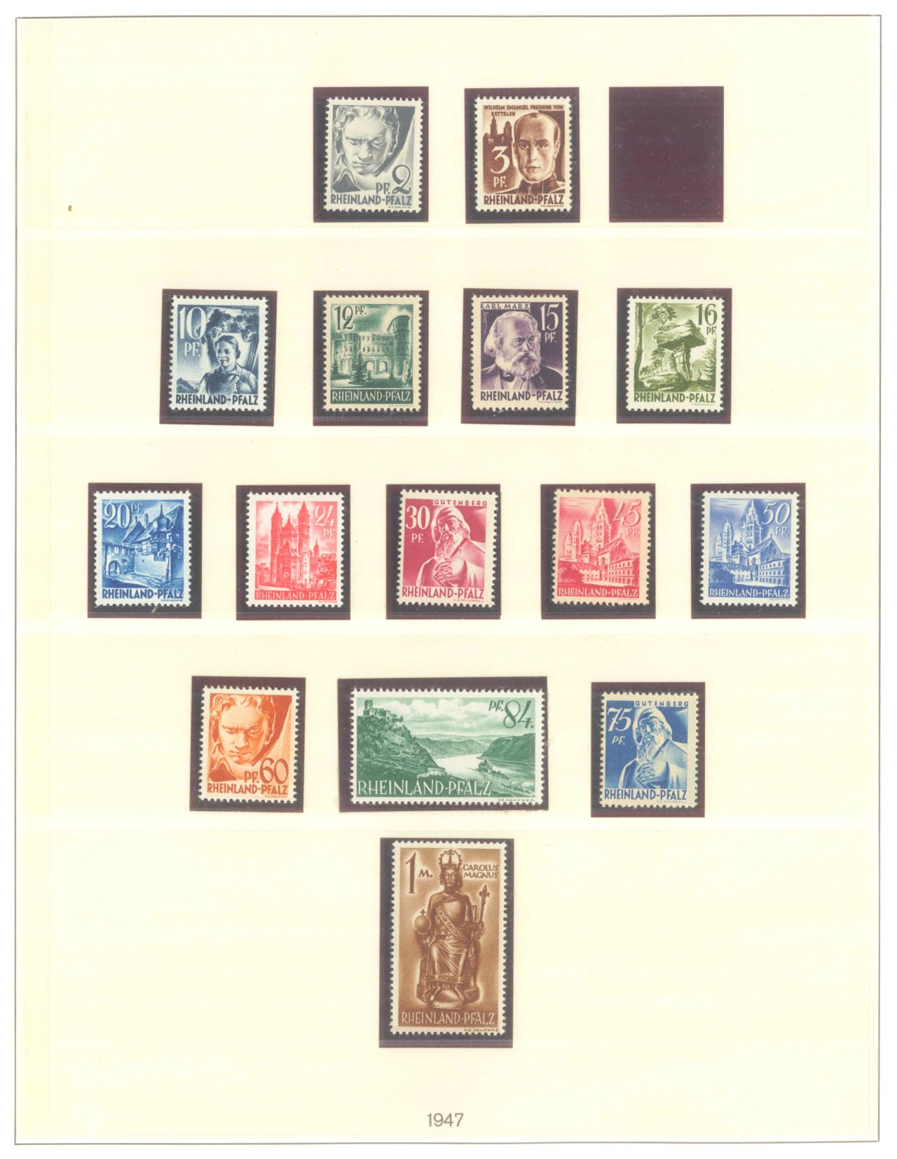 FRANZÖSISCHE ZONE RHEIN-PFALZ 1947-1949
