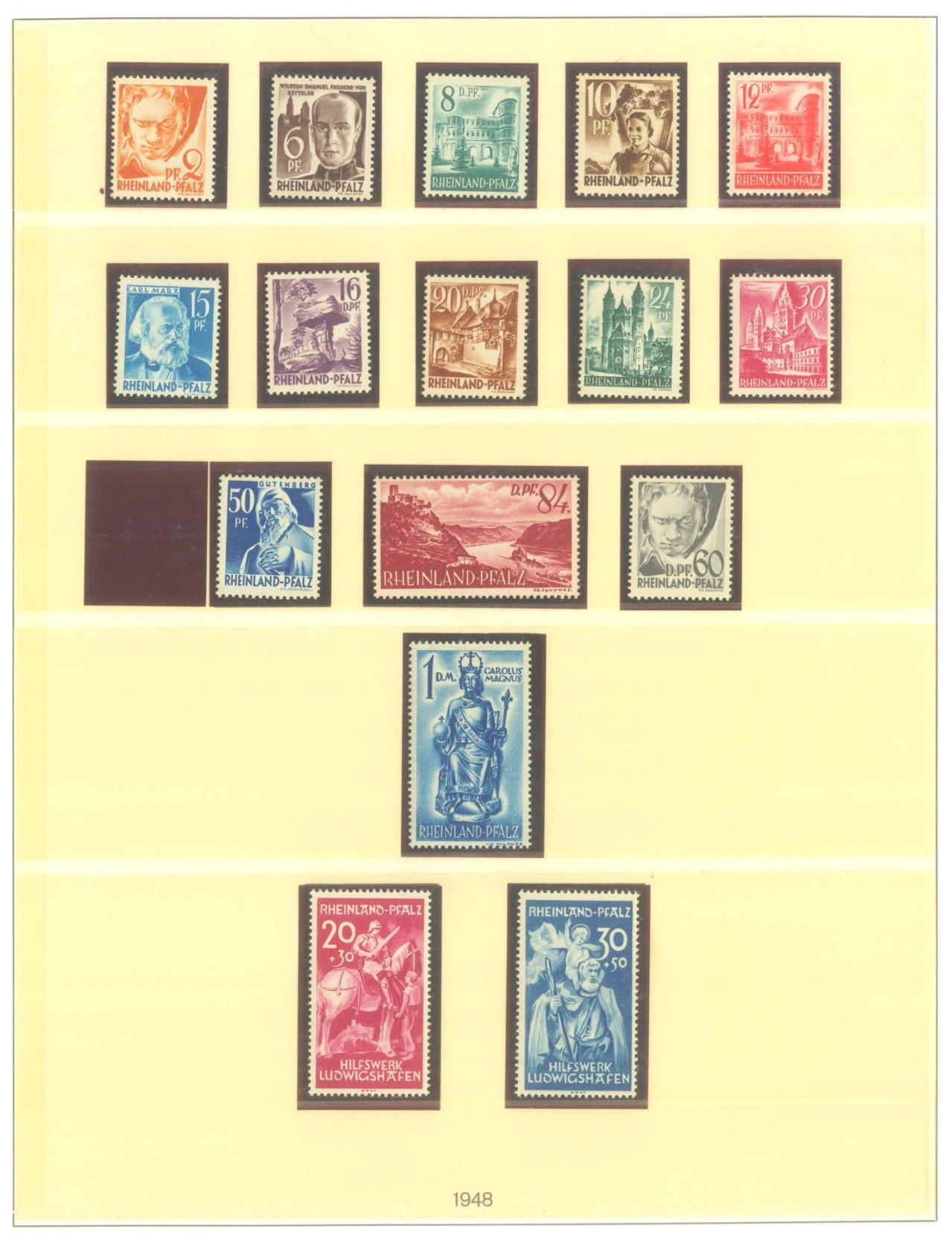 FRANZÖSISCHE ZONE RHEIN-PFALZ 1947-1949-1
