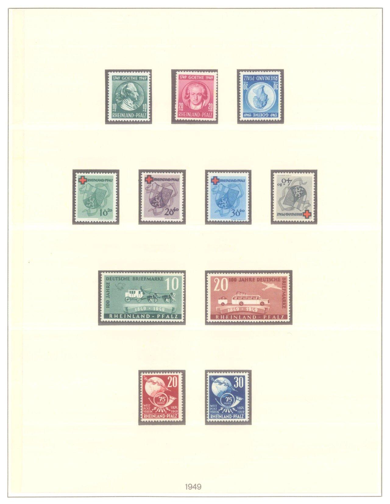 FRANZÖSISCHE ZONE RHEIN-PFALZ 1947-1949-2