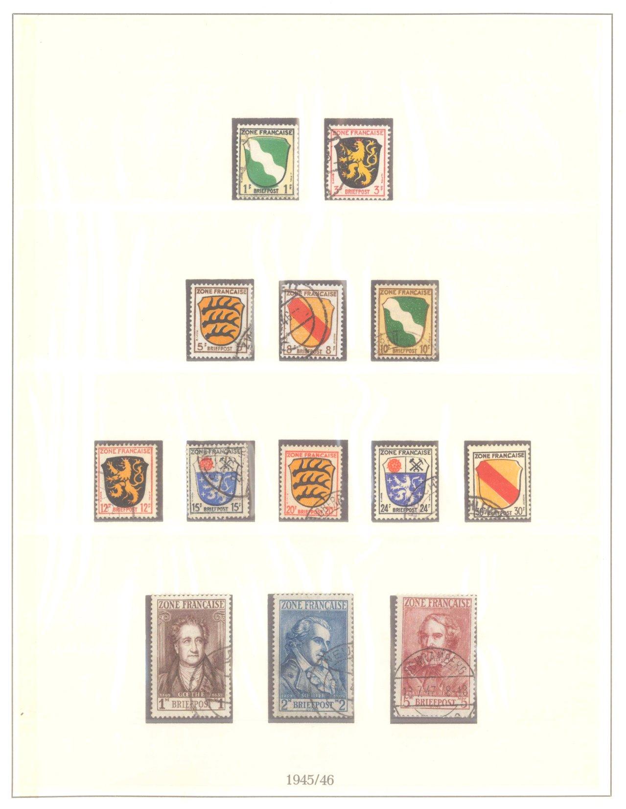 FRANZÖSISCHE ZONE ALLGEMEINE AUSGABE 1945