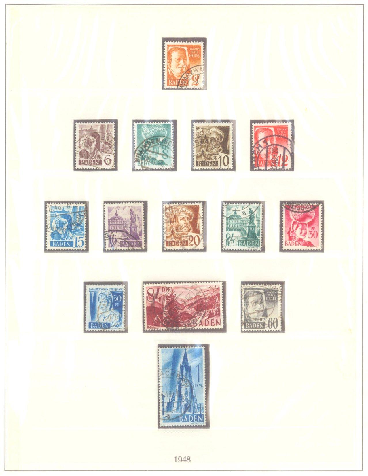 FRANZÖSISCHE ZONE BADEN 1947-1948, Freimarken (I-III)-1