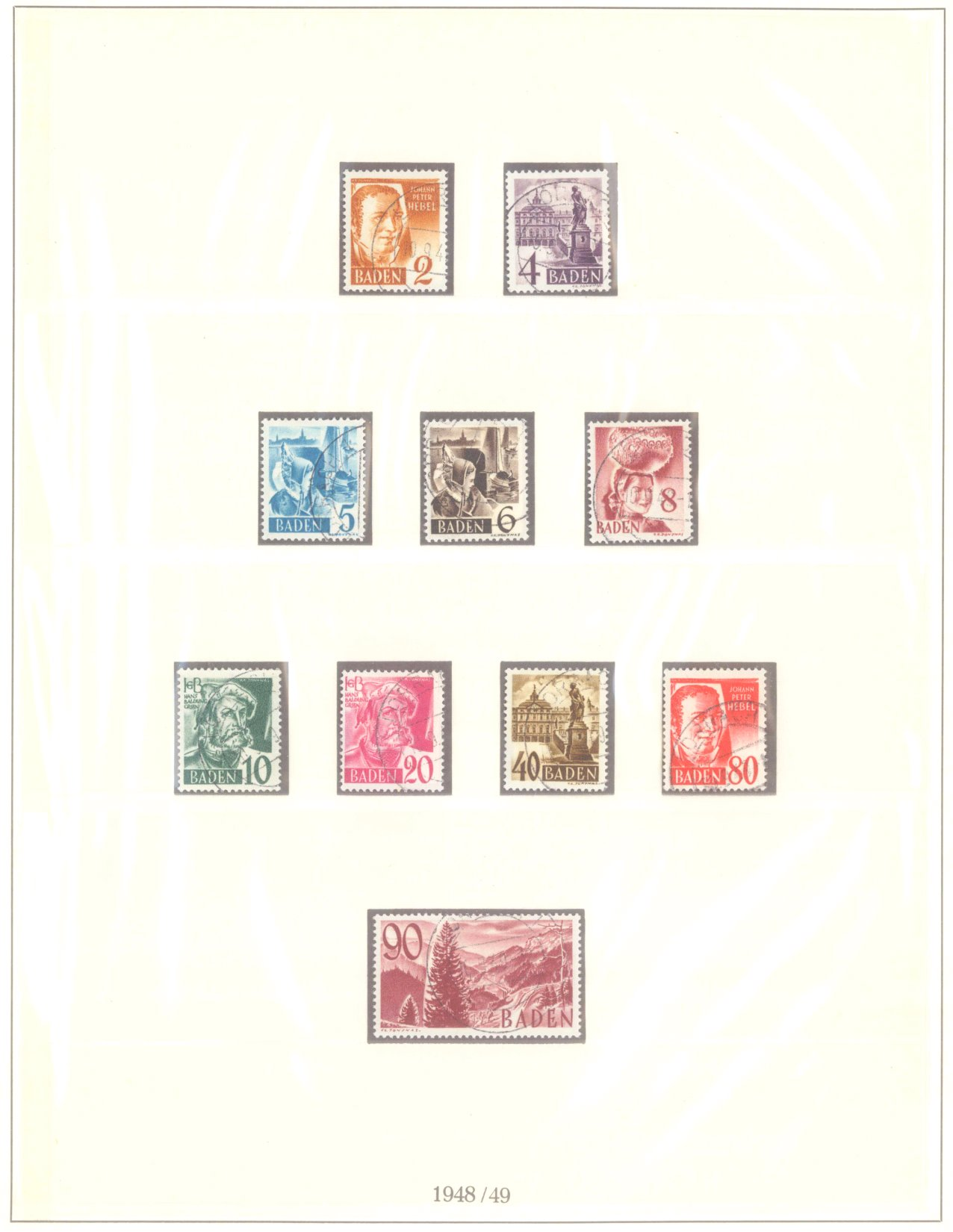 FRANZÖSISCHE ZONE BADEN 1947-1948, Freimarken (I-III)-2