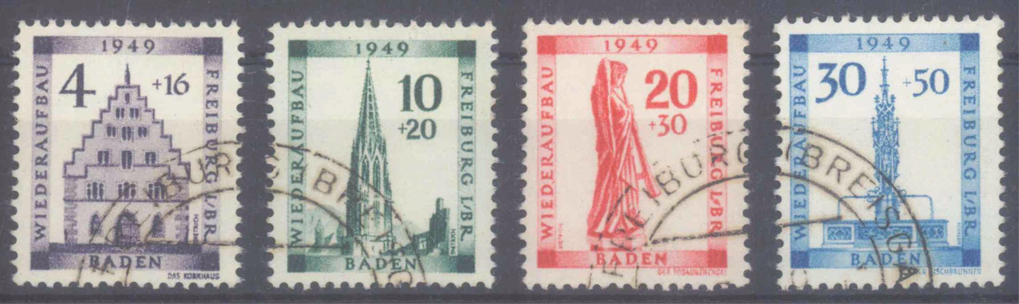 FRANZÖSISCHE ZONE BADEN 1949, Rotes Kreuz