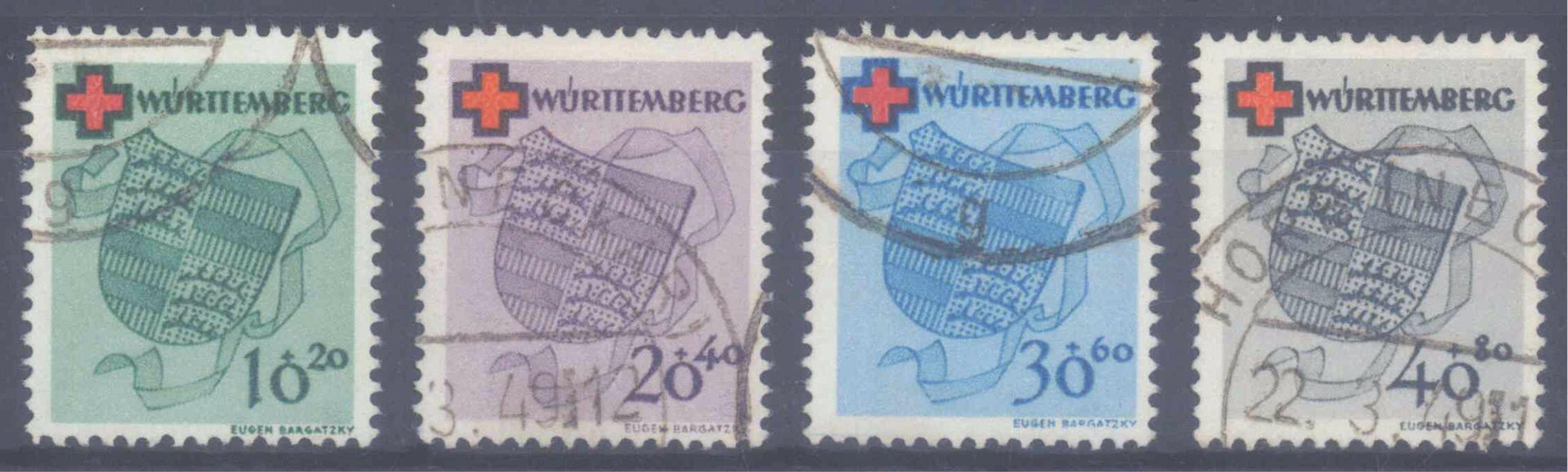 FRANZÖSISCHE ZONE WÜRTTEMBERG 1949, Rotes Kreuz