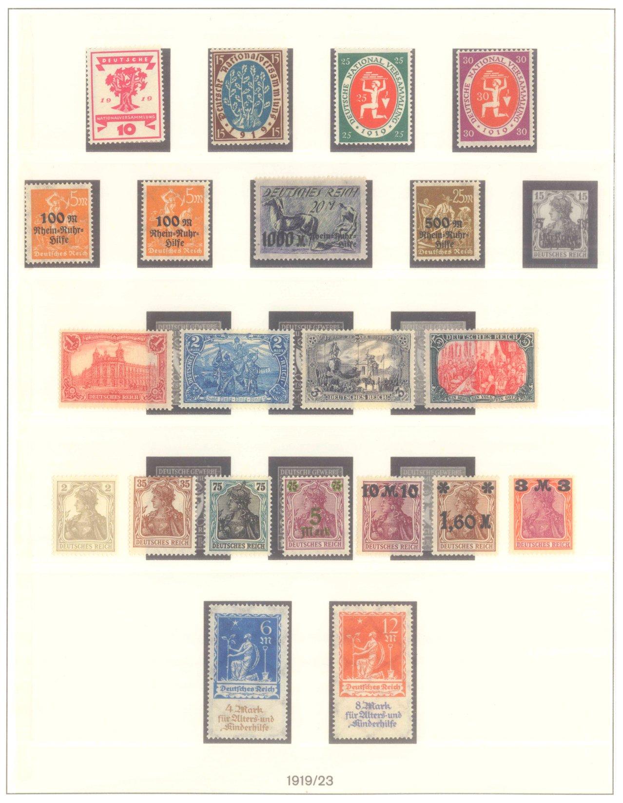 DEUTSCHES REICH INFLATIONSZEIT 1916-1923
